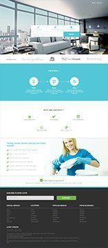 Cleaning web site development
